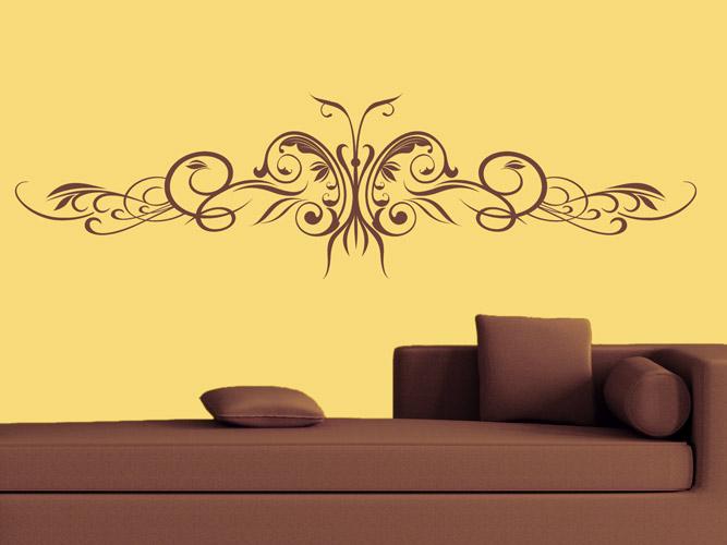 Wandtattoo Ornament Aus Schmetterling Bei Homesticker De