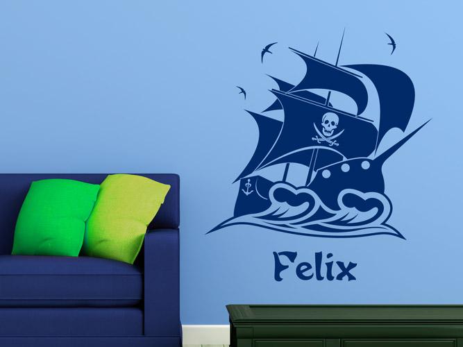 piratenschiff mit wunschname bei. Black Bedroom Furniture Sets. Home Design Ideas