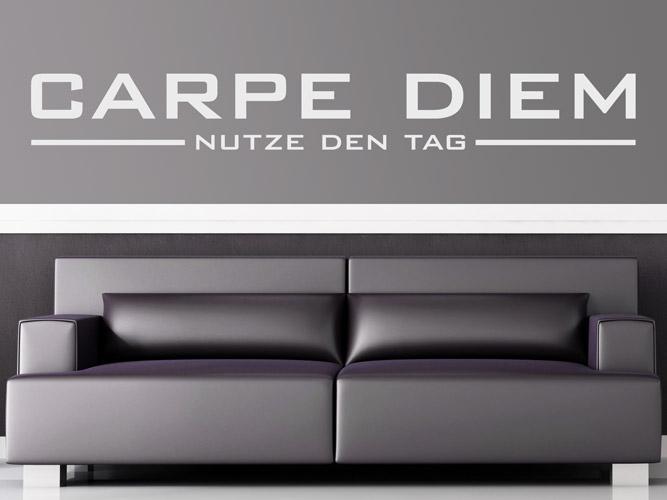 wandtattoo puristisches carpe diem bei. Black Bedroom Furniture Sets. Home Design Ideas
