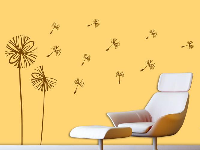 wandtattoo pusteblume im modernen look bei. Black Bedroom Furniture Sets. Home Design Ideas