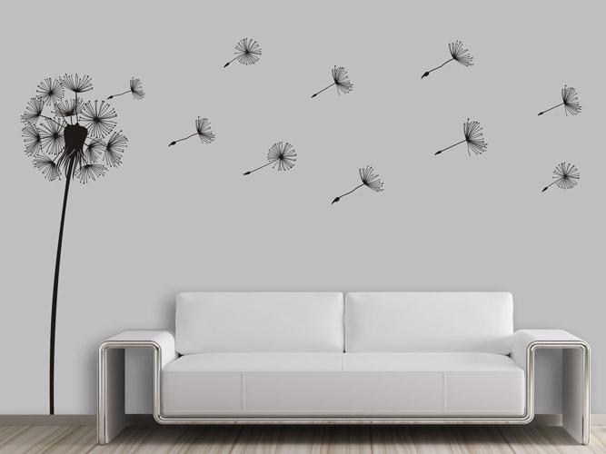 wandtattoo pusteblume in einer brise bei. Black Bedroom Furniture Sets. Home Design Ideas