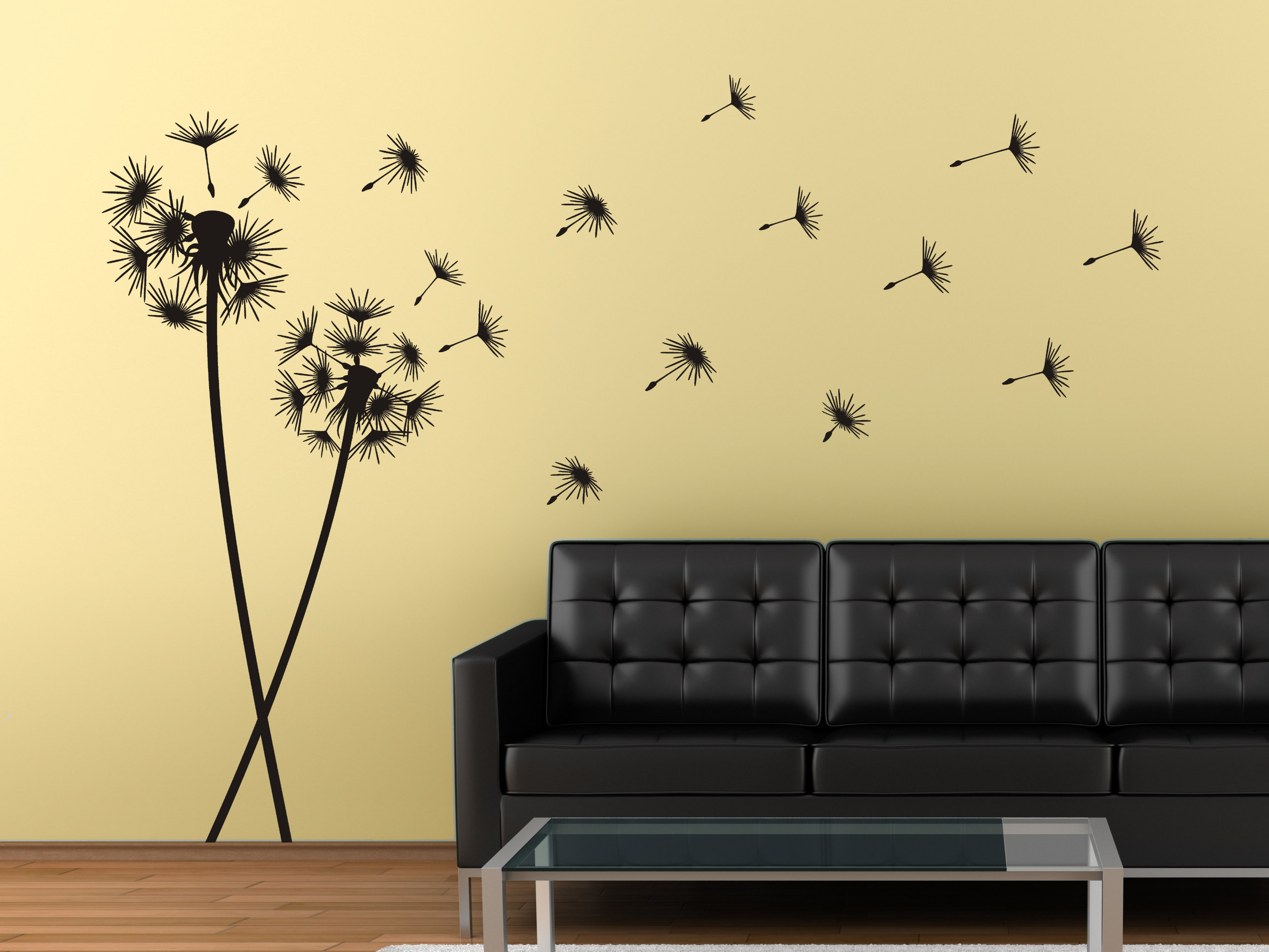 wandtattoo pusteblumen im wind bei. Black Bedroom Furniture Sets. Home Design Ideas