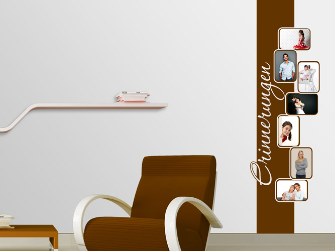 wandtattoo retrobanner f r fotos bei. Black Bedroom Furniture Sets. Home Design Ideas