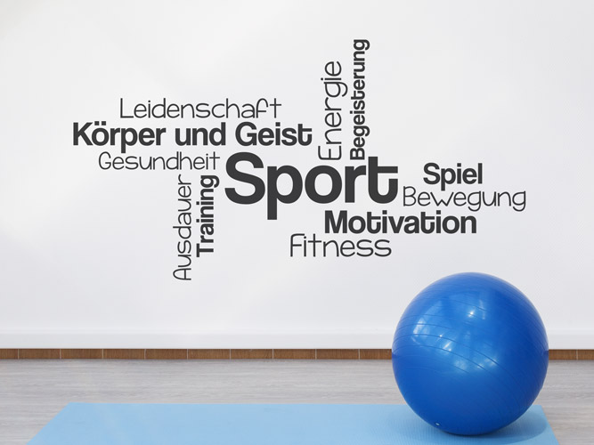 Wandtattoo Sport Training Fitness Begriffe Bei Homestickerde
