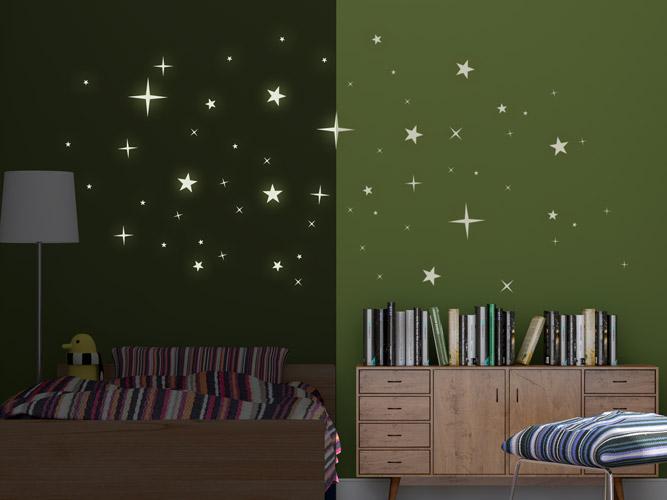 Wandtattoo Sterne - im Dunkeln leuchtend bei Homesticker.de