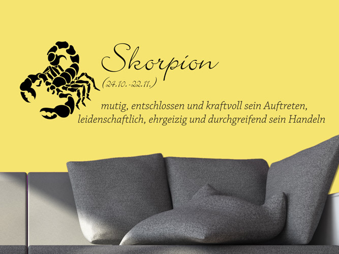 wandtattoo sternzeichen skorpion bei. Black Bedroom Furniture Sets. Home Design Ideas