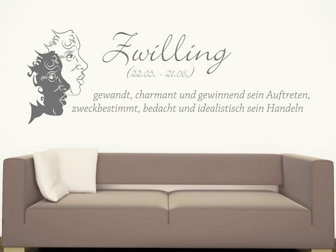 wandtattoo sternzeichen zwilling bei. Black Bedroom Furniture Sets. Home Design Ideas