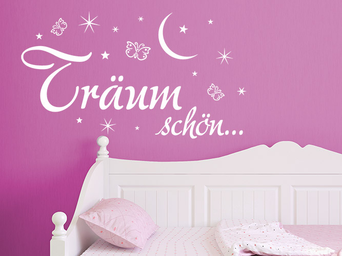 wandtattoo tr um sch n mit mond und sternen bei. Black Bedroom Furniture Sets. Home Design Ideas