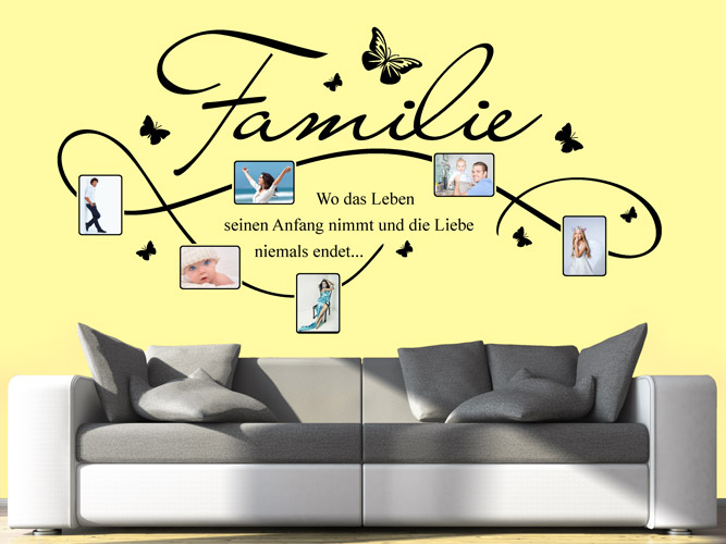 wandtattoo verschn rkeltes fotoband familie bei. Black Bedroom Furniture Sets. Home Design Ideas