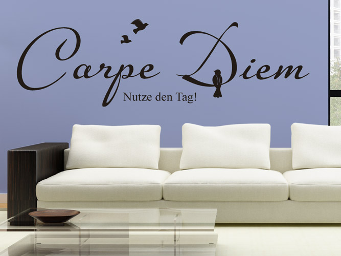 Attractive Wandtattoo Vogel Im Carpe Diem