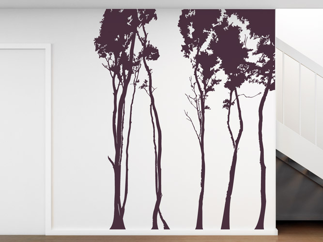wandtattoo wald silhouette bei. Black Bedroom Furniture Sets. Home Design Ideas