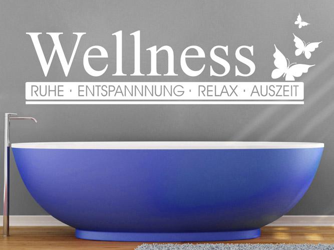 Wandtattoos bad wellness modern - Wandtattoo wellness ...