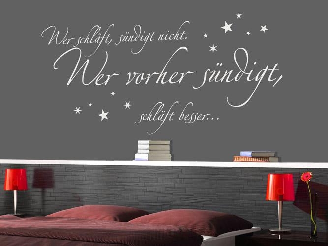 Wandtattoos Schlafzimmer Spruche ~ Die neueste Innovation der Innenarchitektur und Möbel