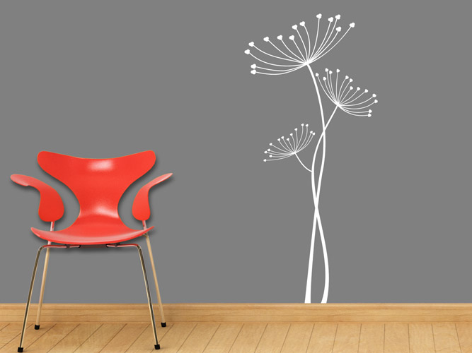 wandtattoo wildwachsende blumen bei. Black Bedroom Furniture Sets. Home Design Ideas