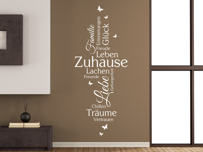 wandtattoo zuhause familie liebe gl ck bei. Black Bedroom Furniture Sets. Home Design Ideas
