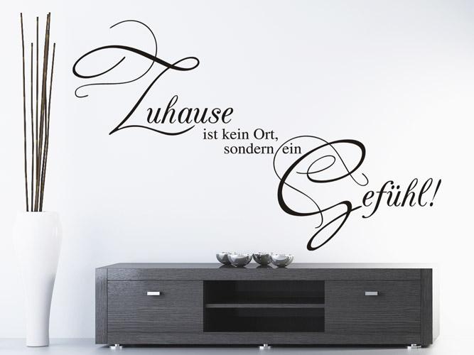 wandtattoo zuhause ist ein gef hl bei. Black Bedroom Furniture Sets. Home Design Ideas