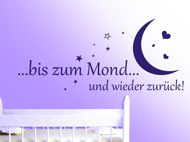 Wandtattoo Bis Zum Mond Und Zuruck Bei Homesticker De