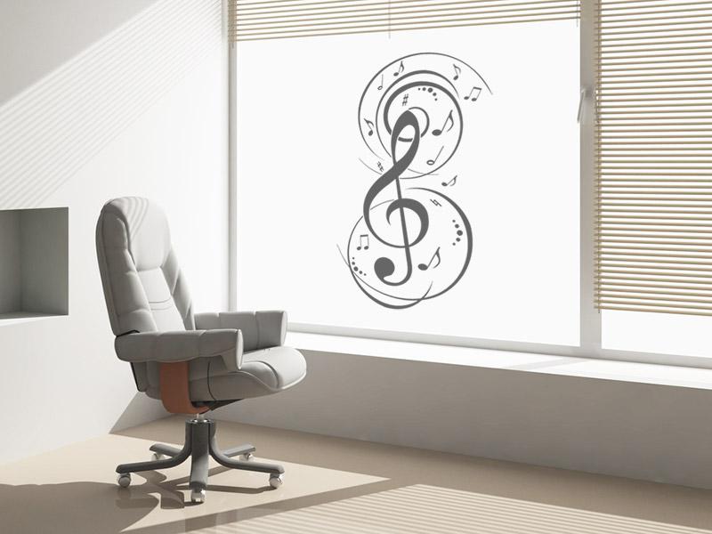 Musik Fenstertattoo