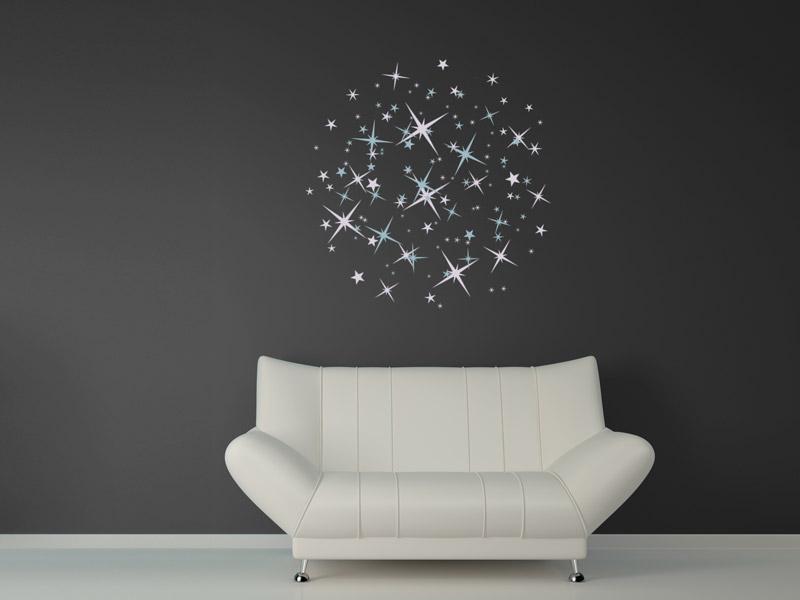 Wandtattoo Sterne als Kreis